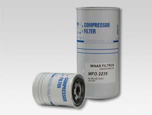 Filtro de óleo para compressor parafuso