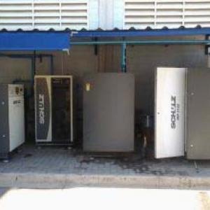 Manutenção de compressor de ar comprimido